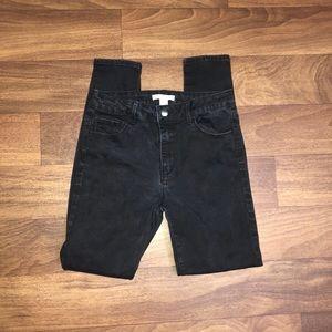 Forever 21 high waisted black denim jeans size 27